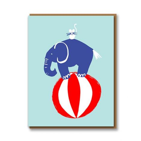 LETTERPRESS COLLECTION: ELEPHANT BIRTHDAY GREETING CARD, BY 1973