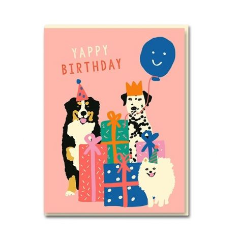 THE DOGS BIRTHDAY GREETING CARD, BY EMMA COOTER