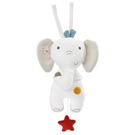 FEHNATUR: ELEPHANT MUSICAL ORGANIC COTTON PLUSH