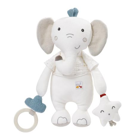 FEHNATUR: ELEPHANT MULTI-SENSORY ACTIVITY ORGANIC COTTON PLUSH