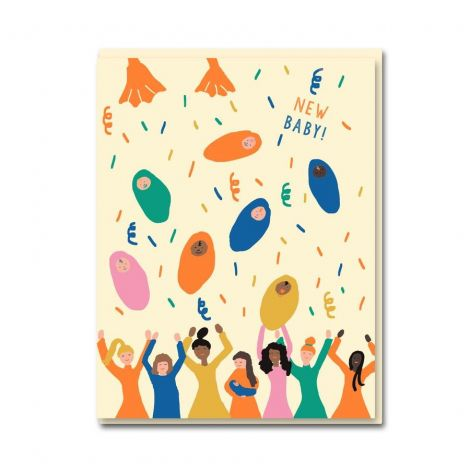 BABY SHOWER GREETING CARD, BY EMMA COOTER DRAWS