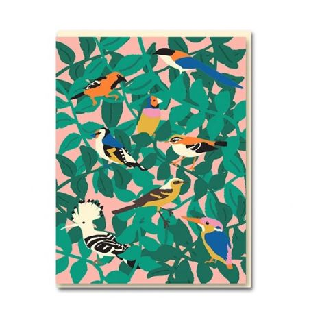 BIRDS GREETING CARD, BY EMMA COOTER DRAWS