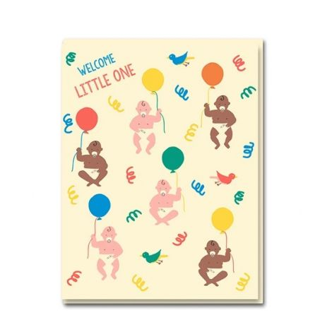 FLOATING BABIES GREETING CARD, BY EMMA COOTER