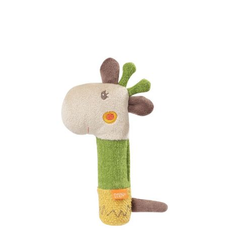 GIRAFFE FABRIC SQUEAKER RATTLE STICK