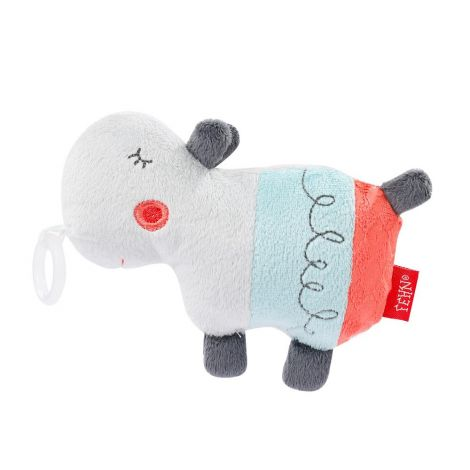 LOOPY HIPPO RATTLING PLUSH PACIFIER HOLDER