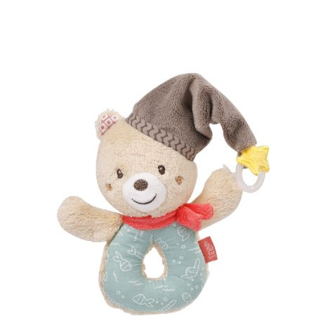 BRUNO BEAR FABRIC RING RATTLE