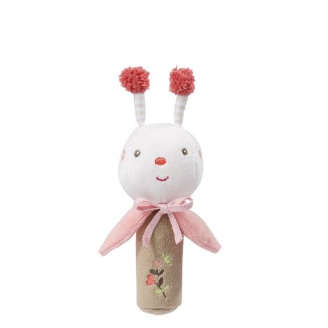 GARDEN DREAMS BEE FABRIC SQUEAKER RATTLE STICK