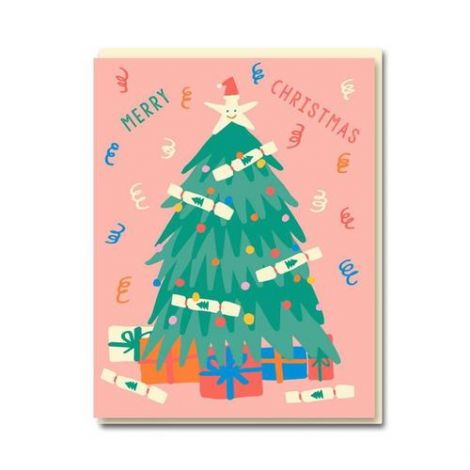 CHRISTMAS TREE HOLIDAY GREETING CARDS, BY EMMA COOTER (BOX OF 8)