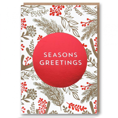 LETTERPRESS COLLECTION: ARCTIC CIRCLE - SEASON'S GREETINGS HOLIDAY GREETING CARD, BY 1973