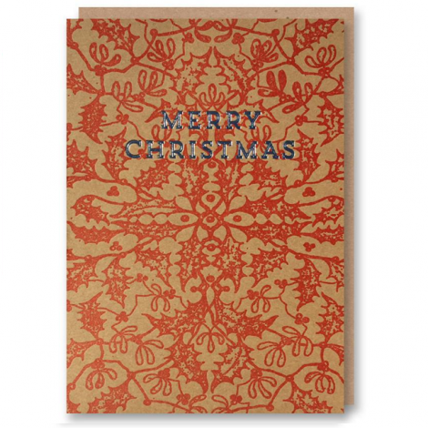 LETTERPRESS COLLECTION: MERRY CHRISTMAS HOLIDAY GREETING CARD, BY 1973