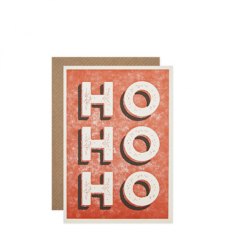 HO HO HO MINI HOLIDAY GREETING CARDS, BY 1973 (SET OF 6)