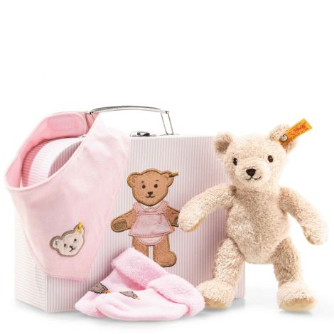 3-IN-1 BABY PLUSH GIFT SET IN SUITCASE, PINK