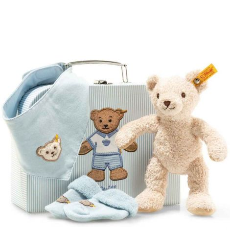 3-IN-1 BABY PLUSH GIFT SET IN SUITCASE, BLUE