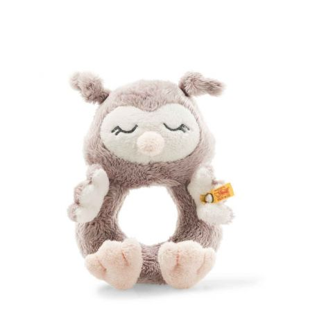 SOFT CUDDLY FRIENDS BABY: OLLIE OWL BABY PLUSH RATTLE