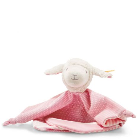 LIENA LAMB ORGANIC COTTON SECURITY BLANKET, PINK