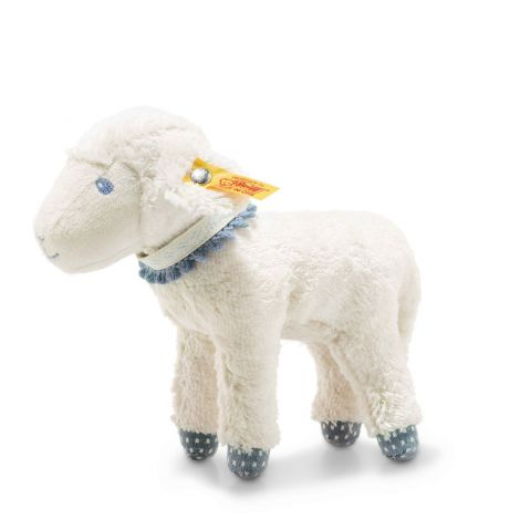 LENO LAMB ORGANIC COTTON PLUSH, BLUE (18CM)