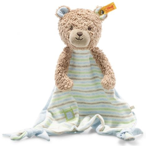 RUDY TEDDY BEAR ORGANIC COTTON SECURITY BLANKET