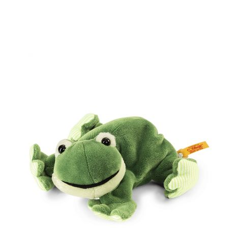STEIFF'S LITTLE FRIENDS: CAPPY FROG FLOPPY PLUSH (16CM)