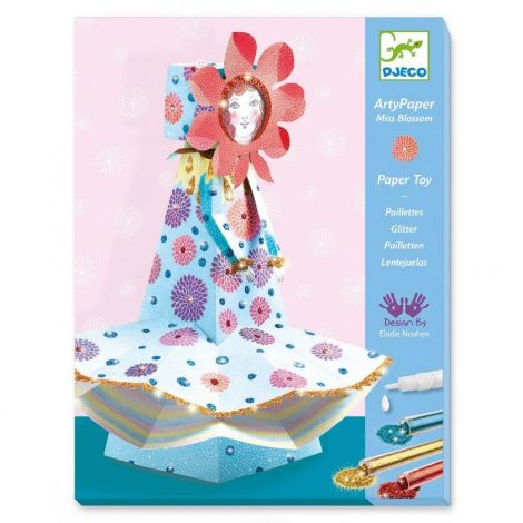 ARTY PAPER + GLITTER CRAFT ACTIVITY SET: MISS BLOSSOM