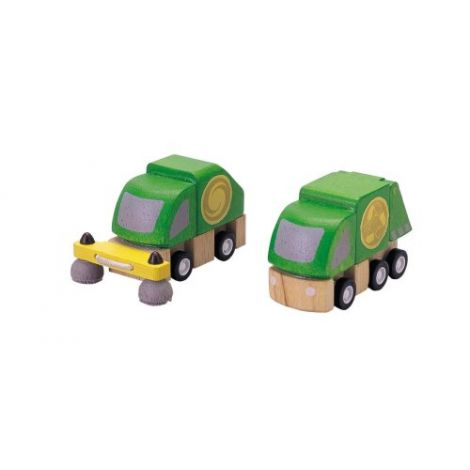 PLANWORLD™ STREET CLEANER & GARBAGE TRUCK SET