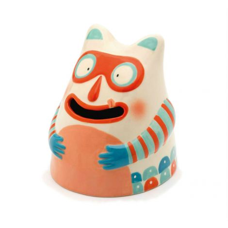 CERAMIC MONEY BANK: GREEDY GUTS IN A MASK