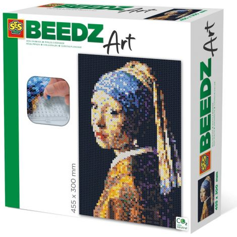 IRON-ON BEADS FINE ART SERIES: GIRL WITH THE PEARL EARRING, JOHANNES VERMEER