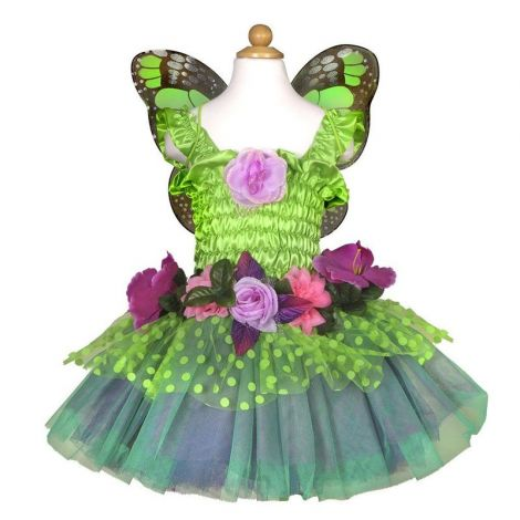 FAIRY BLOOMS DRESS + WINGS DELUXE PLAY COSTUME SET (SIZE 3/4)