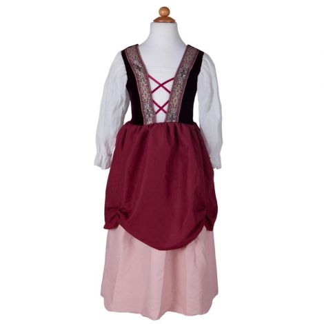 PRETTY MEDIEVAL DRESS PLAY COSTUME, PINK (SIZE 7/8)