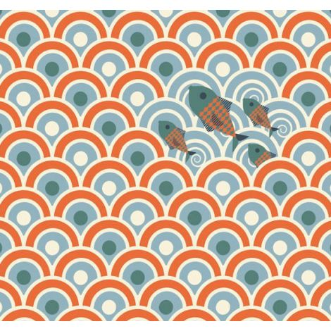 WALLPAPER DECOR STRIP: SARDINES