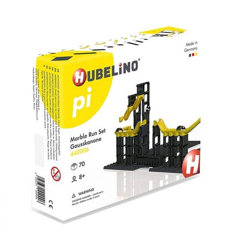 HUBELINO PI ADVANCED MARBLE RUN: 70PC MAGNETIC CANNON CONSTRUCTION SET