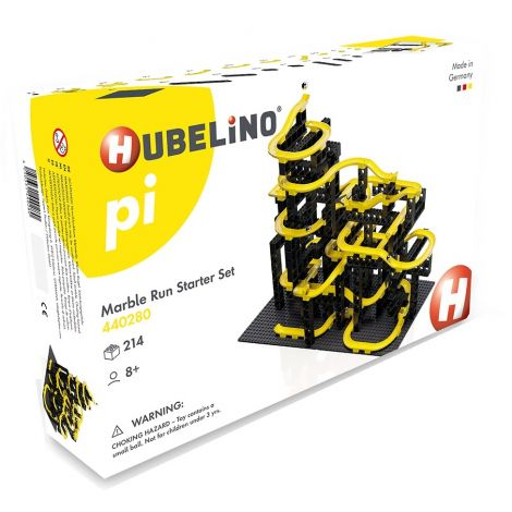 HUBELINO PI ADVANCED MARBLE RUN: 214PC STARTER CONSTRUCTION SET