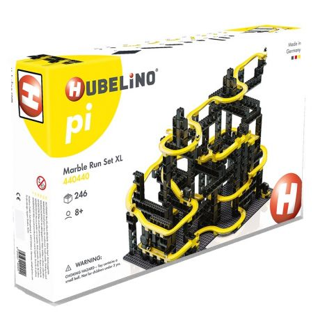 HUBELINO PI ADVANCED MARBLE RUN: 246PC XL CONSTRUCTION SET