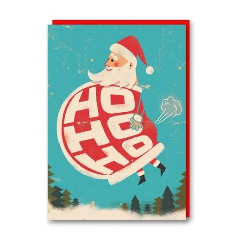 FLATULENT SANTA HOLIDAY GREETING CARD, BY PAUL THURLBY