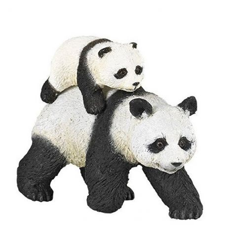 PANDA AND BABY PANDA FIGURINE