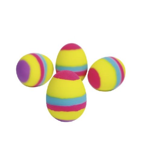 BOUNCING RUBBER EGGS, SET OF 4
