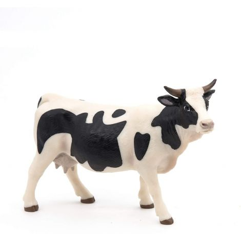 BLACK AND WHITE COW FIGURINE