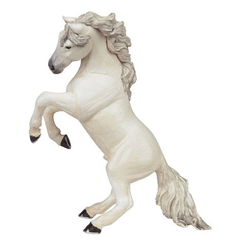 WHITE REARED UP HORSE FIGURINE