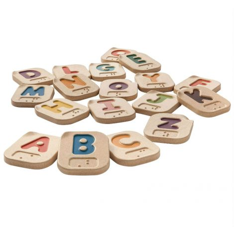 BRAILLE ALPHABET A-Z WOODEN TILES SET