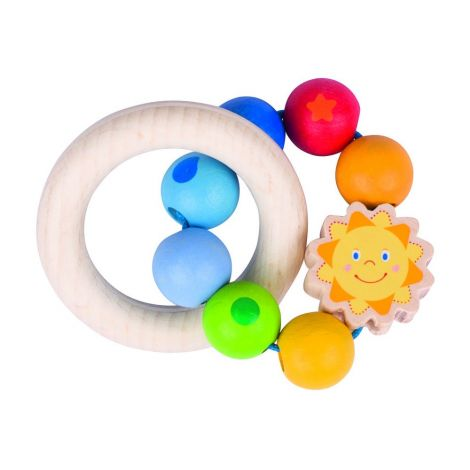 SUN DUAL WOODEN RING RATTLE
