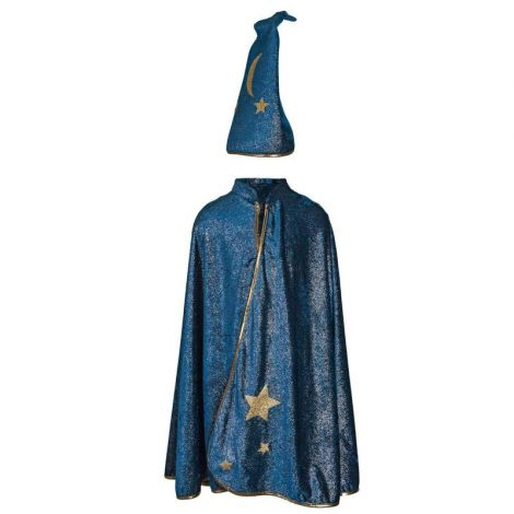 STARRY NIGHT WIZARD CAPE + HAT PLAY COSTUME SET (SIZE 5/6)