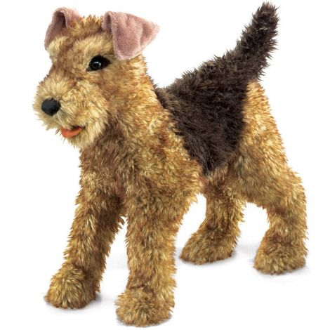 AIREDALE TERRIER HAND PUPPET