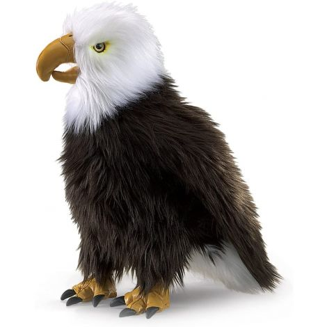 PERCHED EAGLE HAND PUPPET