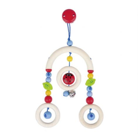 LADYBIRD MINI WOODEN TRAPEZE CLIP MOBILE