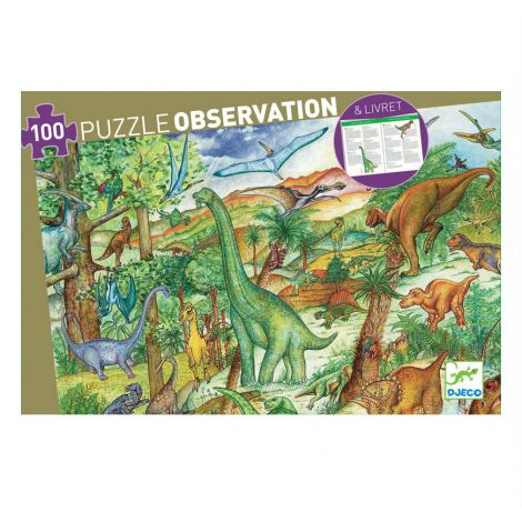OBSERVATION JIGSAW PUZZLE: DINOSAURS (100PC)