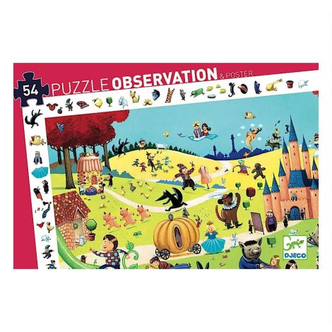 OBSERVATION JIGSAW PUZZLE: FAIRY TALES (54PC)
