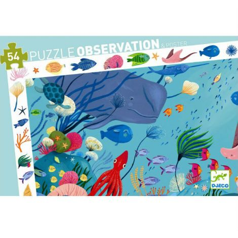 OBSERVATION JIGSAW PUZZLE: AQUATIC (54PC)