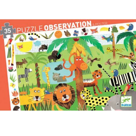 OBSERVATION JIGSAW PUZZLE: JUNGLE (35PC)