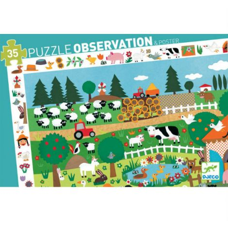 OBSERVATION JIGSAW PUZZLE: FARM (35PC)
