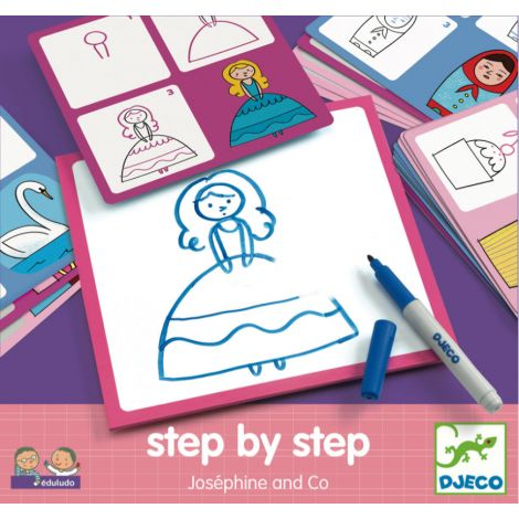 EDULUDO STEP-BY-STEP DRAWING KIT: JOSEPHINE & CO