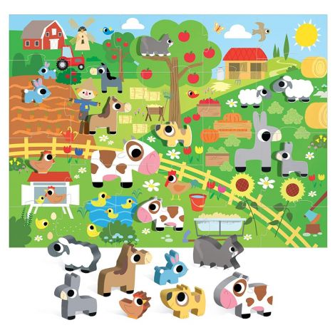 MONTESSORI PUZZLE: HAPPY FARM (19PC)